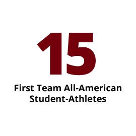 Infographic: 15 First Team All-American Student-Athletes