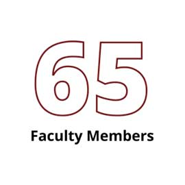 Infographic: 65 Faculty Members