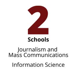 Infographic: 2 Schools: Journalism and Mass Communications, Information Science