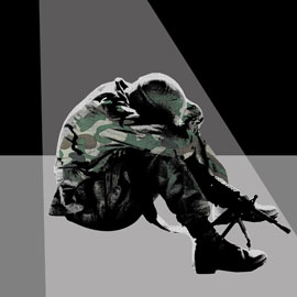 Graphic of soldier