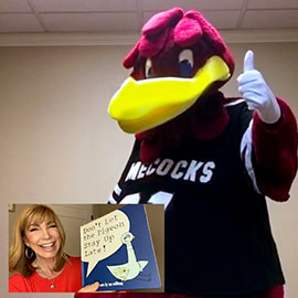 UofSC alumna Leeza Gibbons reads a story on video for Cocky's Reading Express