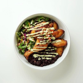 A korean-inspired build your own bowl from the on-campus restaurant, Preston's at Noon.